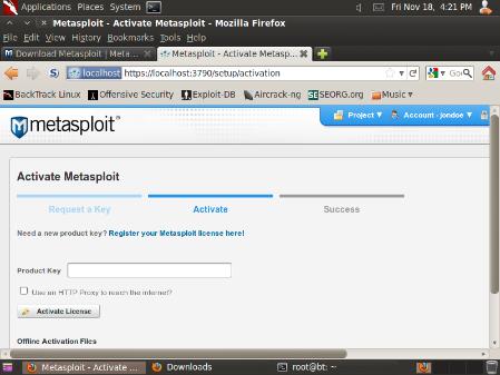 Metasploit License Key Crack